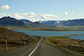 Hoefdavatn at Skagafjoerdur fjord, North Iceland, Europe