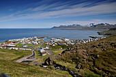 The coastal town Olafsvik on the Snaefellsnes peninsula, North coast, West Iceland, Europe