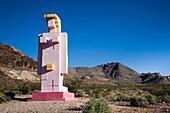 USA, Nevada, Great Basin, Beatty, Rhyolite Ghost Town, Goldwell Open Air Museum, Lady Desert by Dr  Hugo Heyrmann