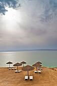 Jordan, The Dead Sea, Suweimah, beach by the Dead Sea