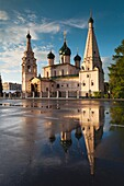 Russia, Yaroslavl Oblast, Golden Ring, Yaroslavl, Church of Elijah the Prophet, sunset