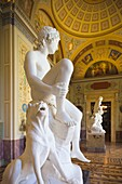 Russia, Saint Petersburg, Center, Winter Palace, Hermitage Museum, statue gallery