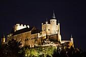 Spain, Castilla y Leon Region, Segovia Province, Segovia, The Alcazar, evening