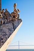 Padrão dos Descobrimentos, Monument to the Discoveries, celebrating Henri the Navigator and the Portuguese Age of Discovery and Exploration, Belem district, Lisbon, Portugal, Europe