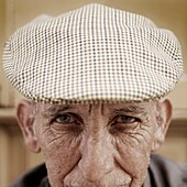 Portrait of an old man in Cañaveral, Caceres province, Extremadura region, Spain  The WAY OF SAINT JAMES or CAMINO DE SANTIAGO following the Silver Way, between Seville and Astorga, SPAIN  Tradition says that the body and head of St  James, after his exec