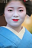 A geisha just after performing a dance in the Gion area of Kyoto
