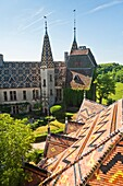 Castle of La Rochepot, Burgundy, France, Europe