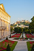 architecture , Austria , building , castle , charming , color image , day , Europe , fortification , fortress , garden , heritage , historic , Mirabell , Mirabell gardens , outdoor , Salzburg , vertical , V04-1589832 , AGEFOTOSTOCK