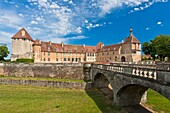 The picturesque castle of Epoisses, Burgundy, France, Europe