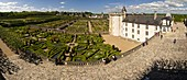 France, Indre et Loire, Loire Valley, castle and gardens of Villandry, built in XVI century, in Renaissance style