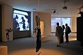 Spain, Asturias, Aviles, International Cultural Centre Oscar Niemeyer, Carlos Saura exhibition ´La luz´ light