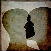 Illustration of a human head, silhouette