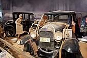 Hickory Corners, Michigan - The Gilmore Car Museum  The museum houses classic cars from 1899 through the 1960s, mostly in eight historic barns  The museum includes a display on the cars used by refugees fleeing the Dust Bowl in the 1930s