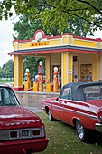Hickory Corners, Michigan - The Gilmore Car Museum  The museum houses classic cars from 1899 through the 1960s and a reconstructed 1930s Shell service station