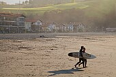 Surf in Deba  The coast of Guipuzcoa is one of the most places in Spain to practice the surf  Basque Country, Spain