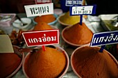 Spices for sale at a local market near the Longneck village Approximately 300 Burmese refugees in Thailand are members of the indigenous group known as the Longnecks The largest of the three villages where the Longnecks live is called Nai Soi, located nea