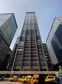 Credit Agricole CIB building at 1301 Avenue of the Americas Sixth Avenue in Manhattan, New York City, United States of America