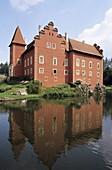 The renaissance castle Cervena Lhota is a top tourist destination in the South Bohemia