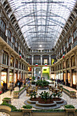 Shopping Passage, old city center of Turin, Turin, Piedmont, Italy