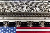 New York Stock Exchange, Architekten Trowbridge und Livingston mit George B Post, 11 Wall Street, Lower Manhattan, New York City, New York, USA