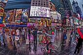 Menschen auf dem Times Square am Abend, 42th, Broadway, Manhattan, New York City, New York, USA