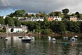 Fishing boats in harbor, Portree, Highland, Isle of Skye, Inner Hebrides, Scotland, United Kingdom