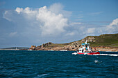 Local fishing and excursion boat Sea Horse, St Marys, Isles of Scilly, Cornwall, England