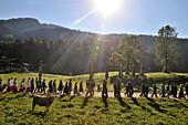 Pilgrimage to the Oelberg chapel at Sachrang, Chiemgau, Bavaria, Germany, Europe