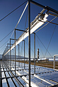 Fresnel reflectors, PSA, Plataforma Solar de Almeria, center for the research of solar energy by the DLR, German Aerospace Center, Almeria, Andalusia, Spain