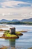 Castle of Stalker near Appin village - An Apainn -, Highlands, Scotland