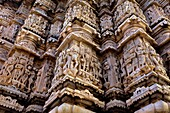 Detail,relief on the exterior wall of the Jagdish Temple,Udaipur, Rajasthan, india