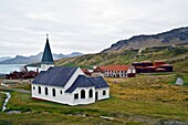 Views of the church at Grytviken Swedish for ´Pot Cove´ on South Georgia in the South Atlantic. Views of the church at Grytviken Swedish for ´Pot Cove´ on South Georgia in the South Atlantic  MORE INFO It was so named by a 1902 Swedish surveyor who foun