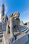 Views from the Vigeland Sculpture Park in the city of Oslo, Norway