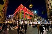 Cartier shop, Via Montenapoleone, Christmas time, Milan, Italy