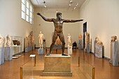 Bronze statue of Poseidon of Artemision at National Archaeological Museum, Athens, Greece