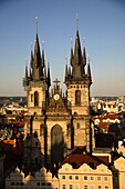 Church of Our Lady before Týn in the Old town Stare Mesto, Prague, Czech Republic