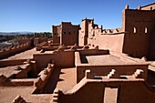 The terrace of Taourirt Kasbah, Ouarzazate, Morocco