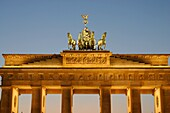 The Brandenburg Gate at dusk, Berlin, Germany