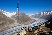 Lookout at Aletsch Glacier, Switzerland