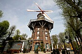 Windmill at the city ring Wall in the Free Hanseatic City of Bremen, Germany