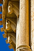 Corbels carved Romanesque church of San Pedro de Tejada - Valle de Valdivielso - Burgos - Castilla y Leon - Spain
