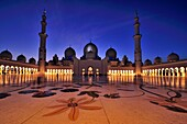 Abu Dhabi, United Arab Emirates  The majestic Sheikh Zayed Grand Mosque is probably the most imposing religious and national landmark in Abu Dhabi to date  It is also arguably one of the most important architectural treasures of contemporary UAE society -