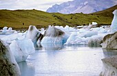 Iceland  Jökulsárlón is a large glacial lagoon in southeast Iceland, on the borders of Vatnajökull National Park  Situated at the head of Breiðamerkurjökull, it evolved into a lagoon after the glacier started receding from the edge of the Atlantic Ocean.