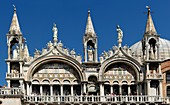 Partial view of the Cathedral in the Piazza San Marco, Venice