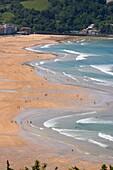 Beach of Zarautz, Zarauz, Zarautz, Gipuzkoa, Guipuzcoa, Basque Country, Basque Country, Spain