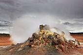 Geological field of Hverir, Myvatn lake, Iceland