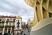 Metropol Parasol structure at De la Encarnacion Square, it was designed by Jürgen Mayer-Hermann  Seville, Andalusia, Spain, Europe