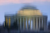 Reflection of the Jefferson Memorial in the Tidal Basin in Washington, DC, USA