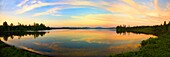 Sunset over Raquette Lake in the Adirondack Mountains of New York State