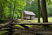 Jim Bales Place on the Roaring Fork Motor Nature Trail in the Great Smoky Mountains National Park, Tennessee